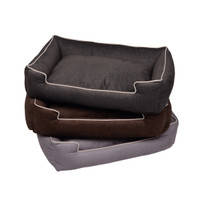Printed Plush Velour Lounge Dog Bed