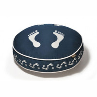 Footprints Round Dog Bed