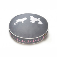 Heels and Boots Round Dog Bed