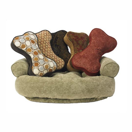 Bowsers Bone Shaped Toss Pillows