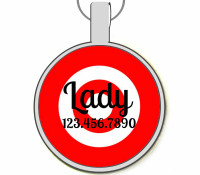 Target Practice Silver Pet ID Tags