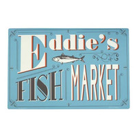 Eddie's Fish Market Dog Placemat