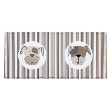 Comic Puppy Black & Grey Placemat