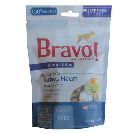 Bravo Bonus Bites Freeze Dried Turkey Hearts Treats