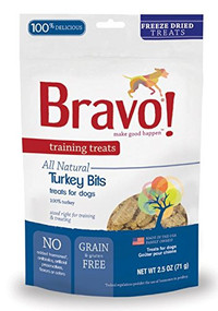 Bravo! Freeze Dried Turkey Bites Training Treats