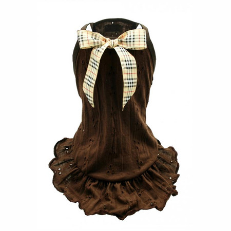 Chocolate Brown Eyelet Dress