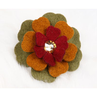Susan Lanci Autumn Flowers Dog Bow