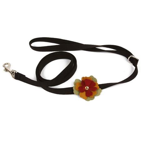 Susan Lanci Autumn Flowers Dog Leash