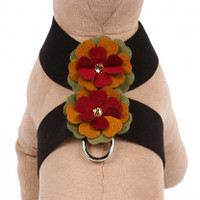 Susan Lanci Autumn Flowers Tinkie Dog Harness