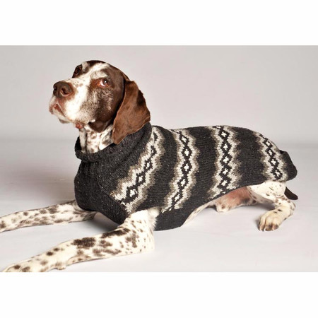 Grey Diamonds Dog Sweater