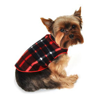 Red Plaid Blanket Fleece Pullover
