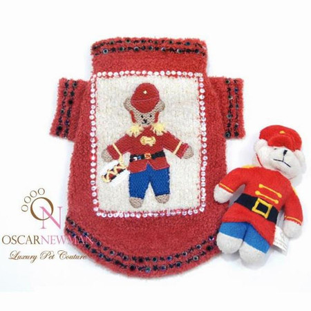 Oscar Newman Beary Merry Christmas Sweater with Toy