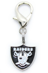 Oakland Raiders Logo Collar Charm