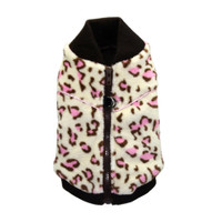 White Cheetah Mink Vest