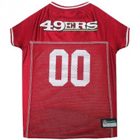 San Francisco 49ers Dog Jersey – White Trim