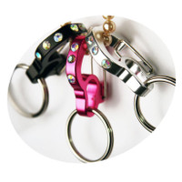 Rubit Dog Tag Clip - Rhinestone Curve Series