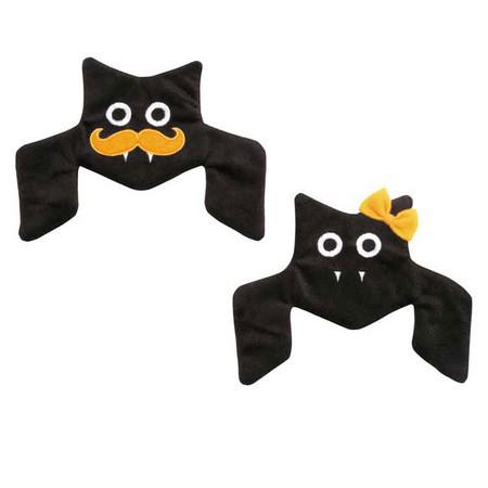Houndstooth Crinkle Bat Dog Toys