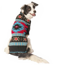 Black Southwest Shawl Dog Sweater