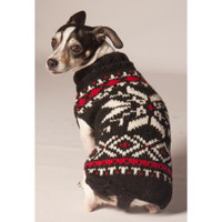 Black Snowflake Dog Sweater