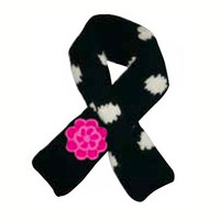Black Polkadot Flower Dog Scarf