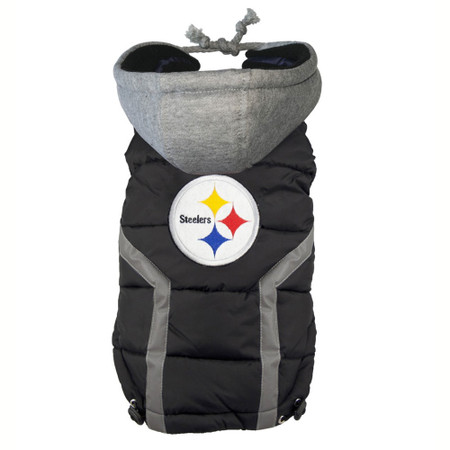 Pittsburgh Steelers Dog Puffer Vest