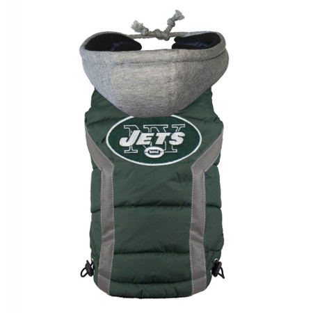 New York Jets Dog Puffer Vest