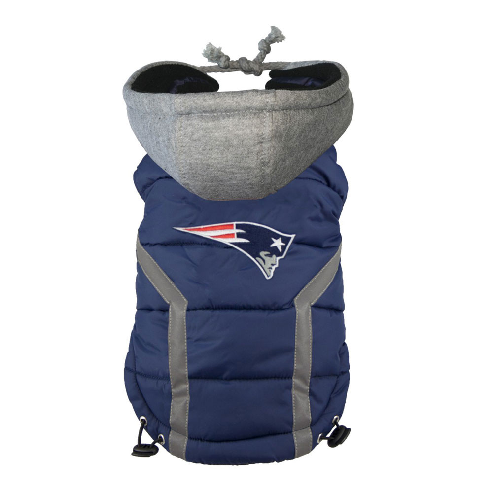 quality design f6a5e c9a9d New England Patriots Dog Puffer Vest