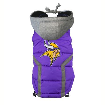 Minnesota Vikings Dog Puffer Vest
