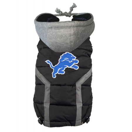Detroit Lions Dog Puffer Vest