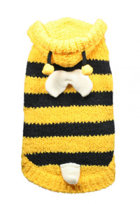 Chenille Bumble Bee Sweater Hoodie