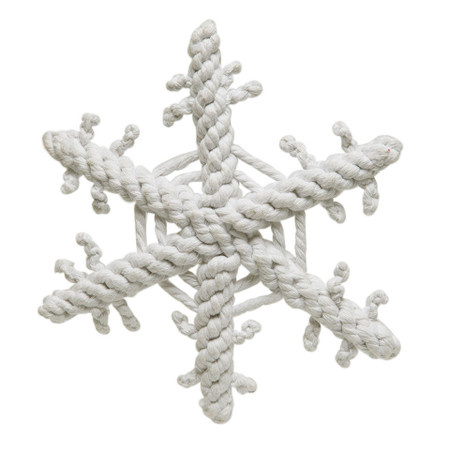 Snowflake Rope Dog Toy