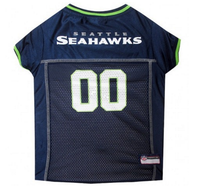 Seattle Seahawks Dog Jersey - Green Trim