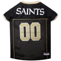 New Orleans Saints Dog Jersey - Gold Trim