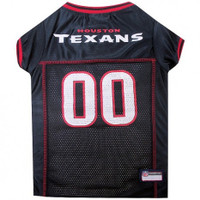 Houston Texans Dog Jersey - Red Trim