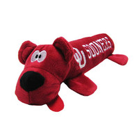Oklahoma Sooners Plush Tube Dog Toy