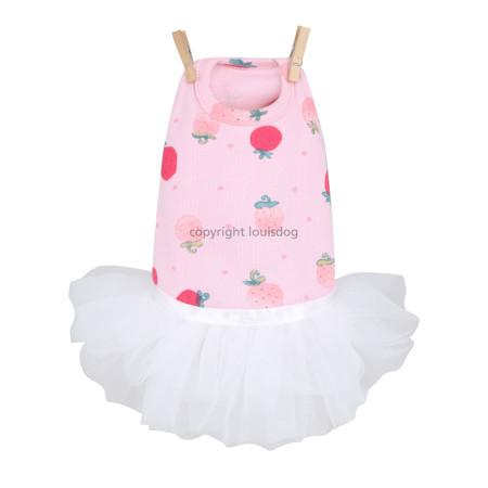 Louisdog Strawberry Tutu Dress