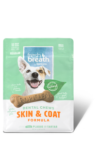 Tropiclean Fresh Breath Dental Chews - Skin & Coat Regular