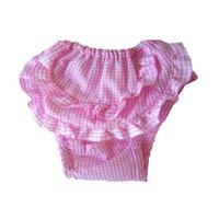 Ruffled Check Sanitary Pants
