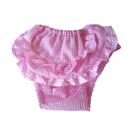 Ruffled Check Sanitary Pants