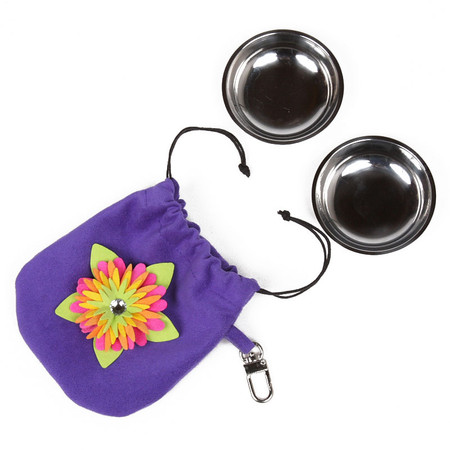 Susan Lanci Island Flower Travel Bowl Pouch Set