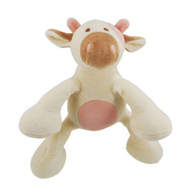 Petite Millie Cow Organic Dog Toy