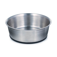 Stainless Steel Bowl with Rubber Base