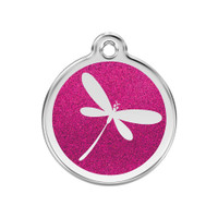 Dragon Fly Stainless Steel Glitter Enamel ID Tag