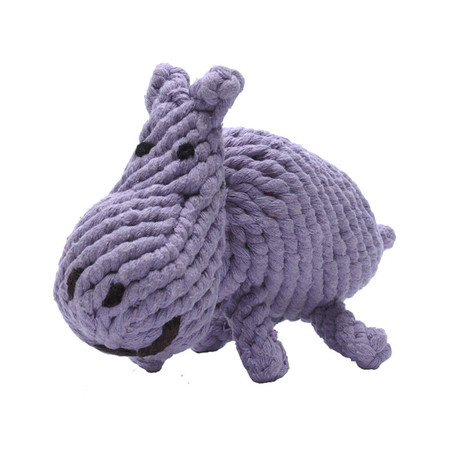 Hank Hippo Rope Dog Toy