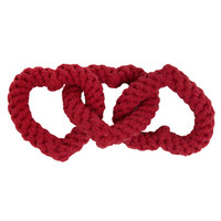 Chain of Hearts Rope Dog Toy