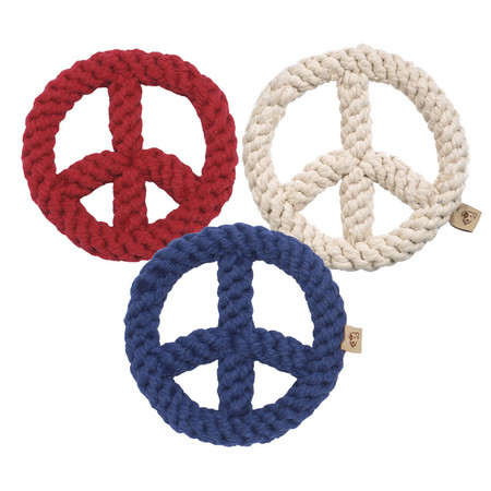Peace Sign Rope Dog Toys