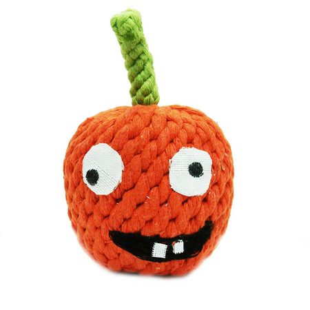 Gourdy the Pumpkin Rope Dog Toy
