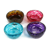 Susan Lanci Hand Blown Glass Dog Bowls