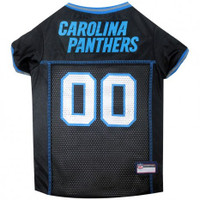 Carolina Panthers Dog Jersey - Blue Trim