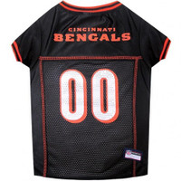 Cincinnati Bengals Dog Jersey - Orange Trim